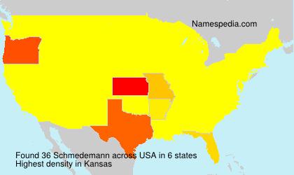Surname Schmedemann in USA