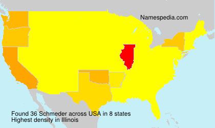 Surname Schmeder in USA