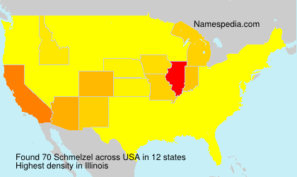 Familiennamen Schmelzel - USA