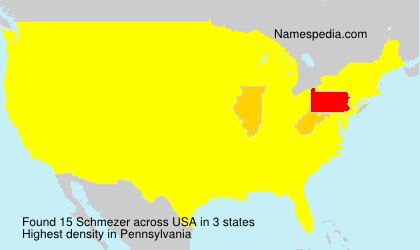 Surname Schmezer in USA