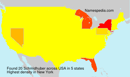 Surname Schmidhuber in USA