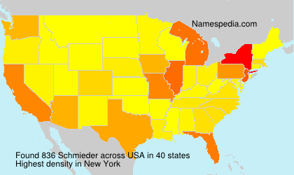 Surname Schmieder in USA