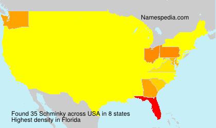 Surname Schminky in USA