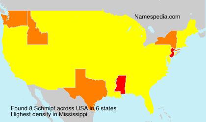 Familiennamen Schmipf - USA