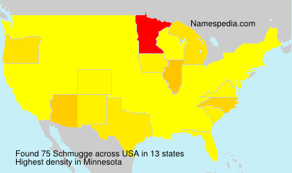 Surname Schmugge in USA