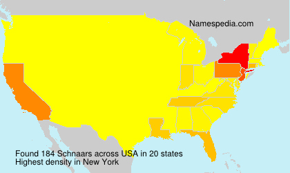 Surname Schnaars in USA