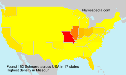 Surname Schnarre in USA