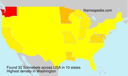 Familiennamen Schnebele - USA