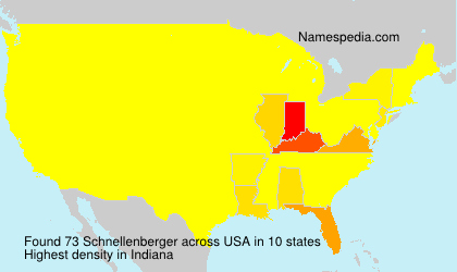 Surname Schnellenberger in USA