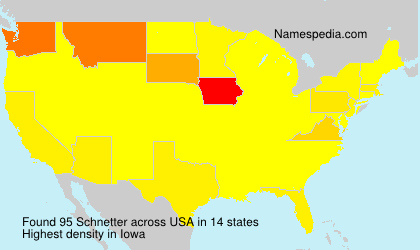 Surname Schnetter in USA