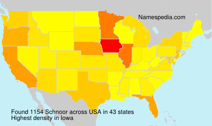 Surname Schnoor in USA