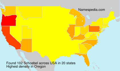 Familiennamen Schoebel - USA
