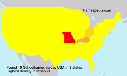 Surname Schoelhamer in USA