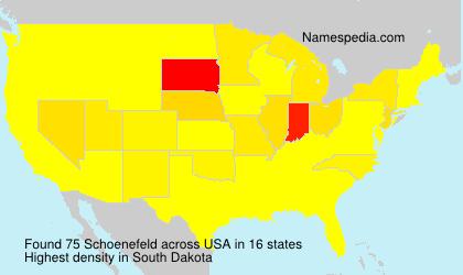 Surname Schoenefeld in USA