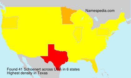 Surname Schoenert in USA