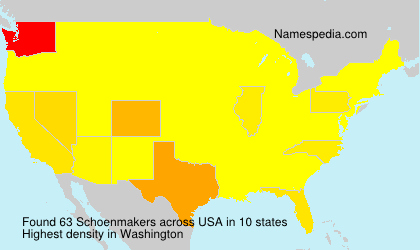 Surname Schoenmakers in USA