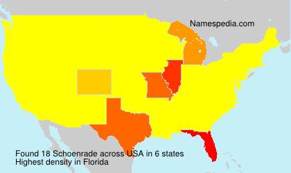 Familiennamen Schoenrade - USA