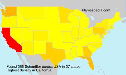 Surname Schoettler in USA