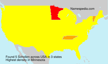 Surname Schollen in USA