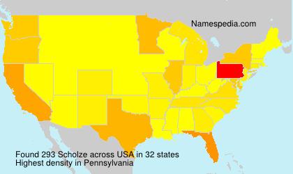 Surname Scholze in USA