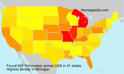 Surname Schomaker in USA