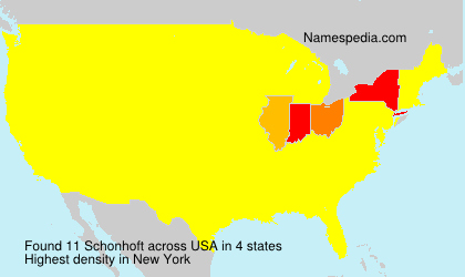 Surname Schonhoft in USA
