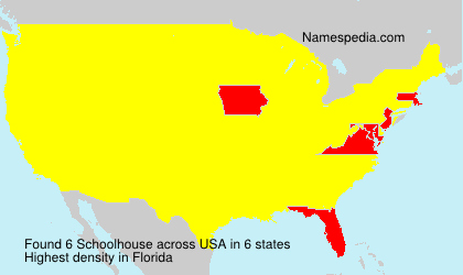 Surname Schoolhouse in USA
