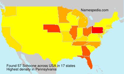 Familiennamen Schoone - USA