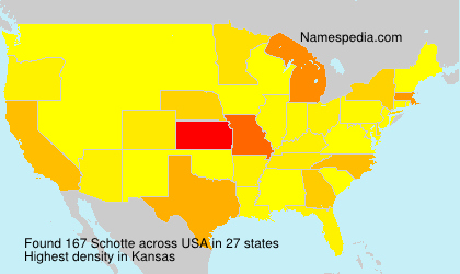 Surname Schotte in USA