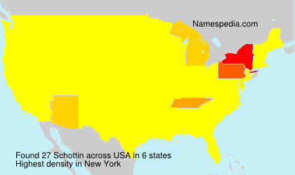 Surname Schottin in USA