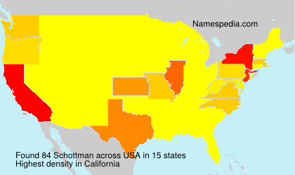 Surname Schottman in USA