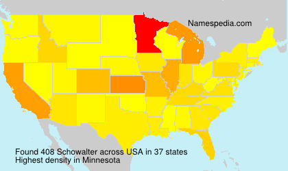 Surname Schowalter in USA