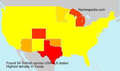 Familiennamen Schrah - USA