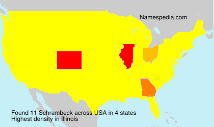 Surname Schrambeck in USA