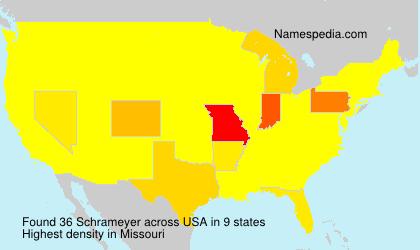 Familiennamen Schrameyer - USA