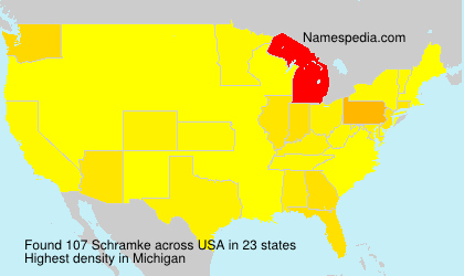 Surname Schramke in USA