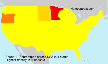 Surname Schrammen in USA
