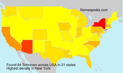 Surname Schraven in USA