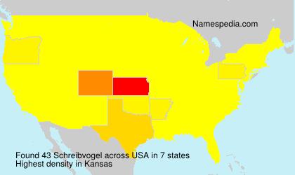 Surname Schreibvogel in USA
