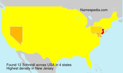 Familiennamen Schreidl - USA