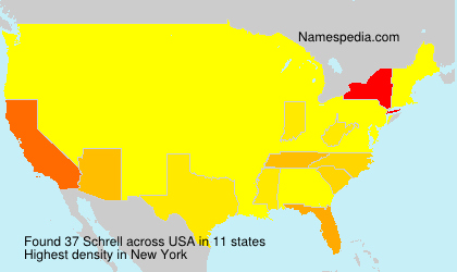Surname Schrell in USA