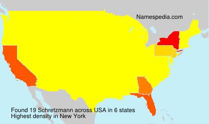 Surname Schretzmann in USA