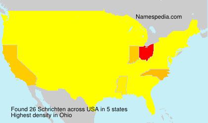Surname Schrichten in USA