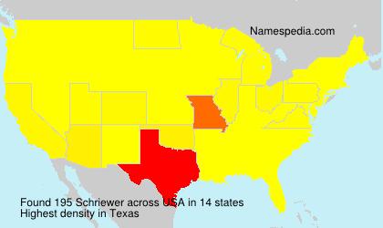 Familiennamen Schriewer - USA