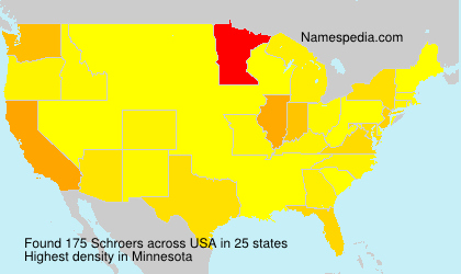Surname Schroers in USA