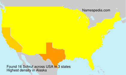 Surname Schruf in USA