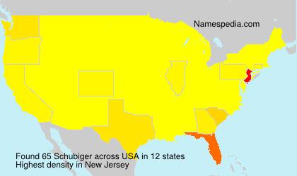 Surname Schubiger in USA