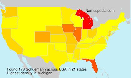 Surname Schuemann in USA