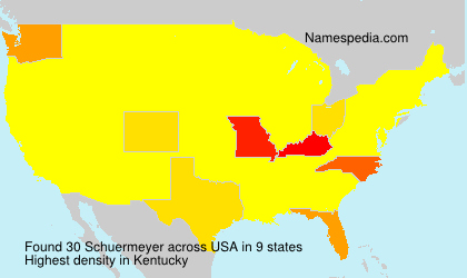 Surname Schuermeyer in USA