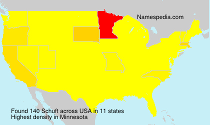 Surname Schuft in USA